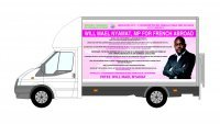 "Luton van print and installation ""WILL NYAMAT"""