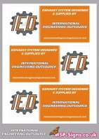 "IEO stickers 3x 37"" x 17"""