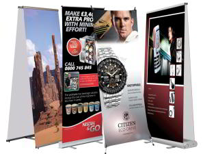Roll up banner, pull up banners and exhibition banners